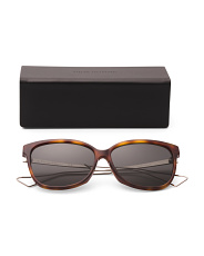 Unisex Made In Italy 57mm Designer Sunglasses