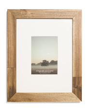 10x13 Matted Acacia Wood Frame