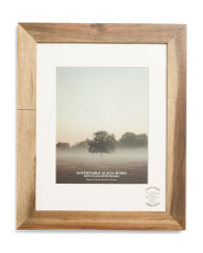 11x14 Matted Acacia Wood Frame