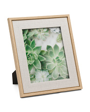 8x10 Linen Matted Wood Frame