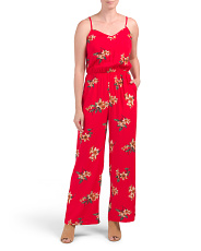 Juniors Floral Jumpsuit