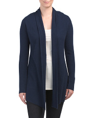 Cashmere Open Front Long Cardigan