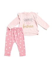 Baby Girls Create The Future Pant Set