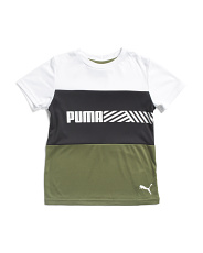 Little Boys Color Block Performance Tee