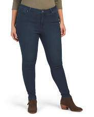 Plus High Rise Pin Up Skinny Jeans