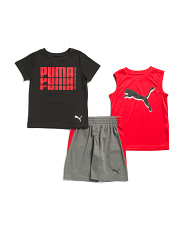 Little Boys 3pc Active Short Set