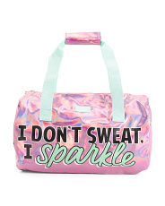 Limited Too Holographic Duffel I Don't Sweat I Sparkle