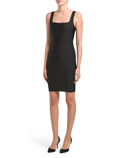 Juniors Square Neck Ponte Dress
