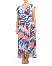 Made In Usa Plus Tropical Floral Maxi Dress