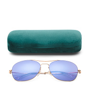 Made In Italy 58mm Aviator Designer Sunglasses