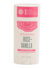 3.25oz Rose And Vanilla Natural Deodorant