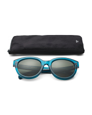 Made In Italy 55mm Designer Sunglasses With Case