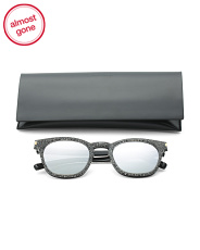 Made In Italy 49mm Square Designer Sunglasses With Case