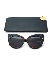 55mm Cat Eye Designer Sunglasses With Case