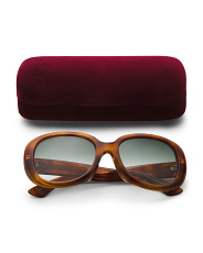 Made In Italy 55mm Round Designer Sunglasses With Case