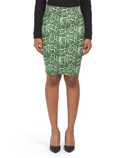 Juniors Snake Bandage Skirt