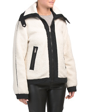 Reversible Sherpa Fashion Coat