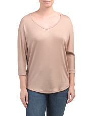 Juniors V-neck Dolman Tunic
