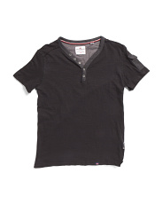 Big Boys Short Sleeve Henley Tee