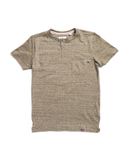 Big Boys Space Dye Henley Tee