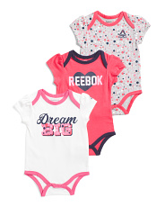 Newborn Girls 3pk Dream Bodysuits Set