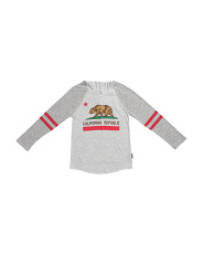 Big Boys Cali Bear Long Sleeve Hoodie