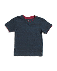 Little Boys Double Layer Space Dye Tee
