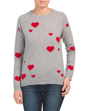 Scattered Hearts Cashmere Sweater