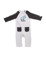 Infant Boys Raglan Sleeve Coveralls