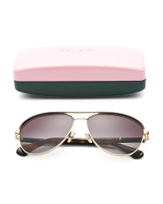 59mm Emilyann Aviator Designer Sunglasses