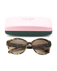 Made In Italy Kiersten Oval Designer Sunglasses