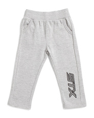 Toddler Boys Tapered Fleece Pants