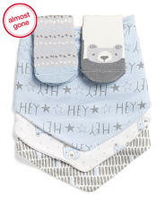 Baby Boys 5pc Sock And Bear Bibs Set