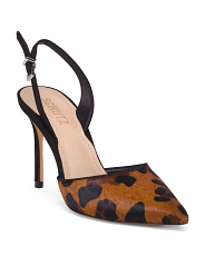 Made In Brazil Leopard Print Haircalf Pumps