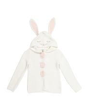 Little Girls Hooded Bunny Cardigan