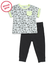 Infant Boys 2pc Pop Art Tee And Joggers Set