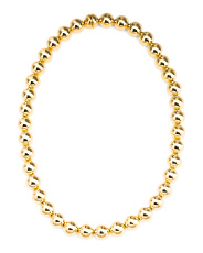 Made In Italy 14k Gold Electroform Bead Necklace