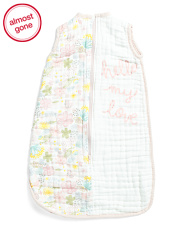 Newborn Girls Floral Muslin Sleep Bag