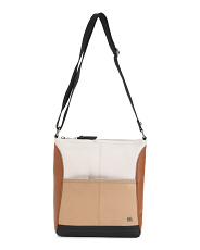 Leather Iris Color Block Crossbody