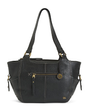 Leather Kendra Large Multi Pocket Satchel