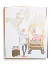 20x24 World Travel Girl Wall Art