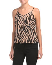 Juniors Zebra Printed Tank