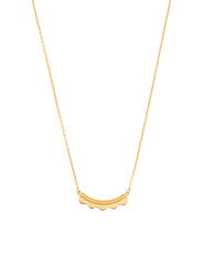 Handmade In Thailand 18k Gold Plated Lotus Petal Necklace