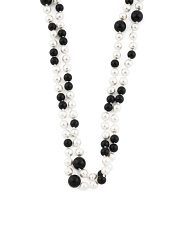 Black And White Mother Of Pearl Necklace