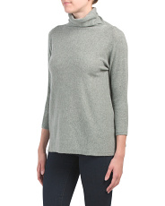 Easy Funnel Neck Cashmere Pullover Sweater