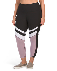 Plus Active High Rise Crop Leggings