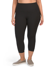 Plus Active Precision High Rise Crop Leggings