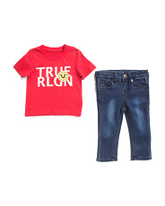 Infant Boys 2pc Tee And Denim Set