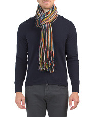Made In Italy Muted Stripe Scarf