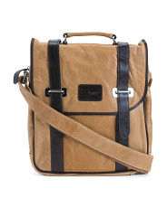 Leather Granger Two Tone Messenger Bag